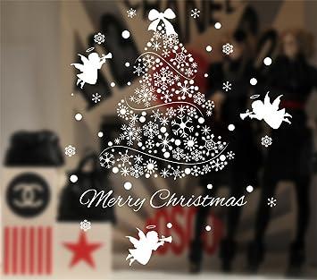 Ramonala Fensterfolie Weihnachten Schneeflocken Fenstersticker Set