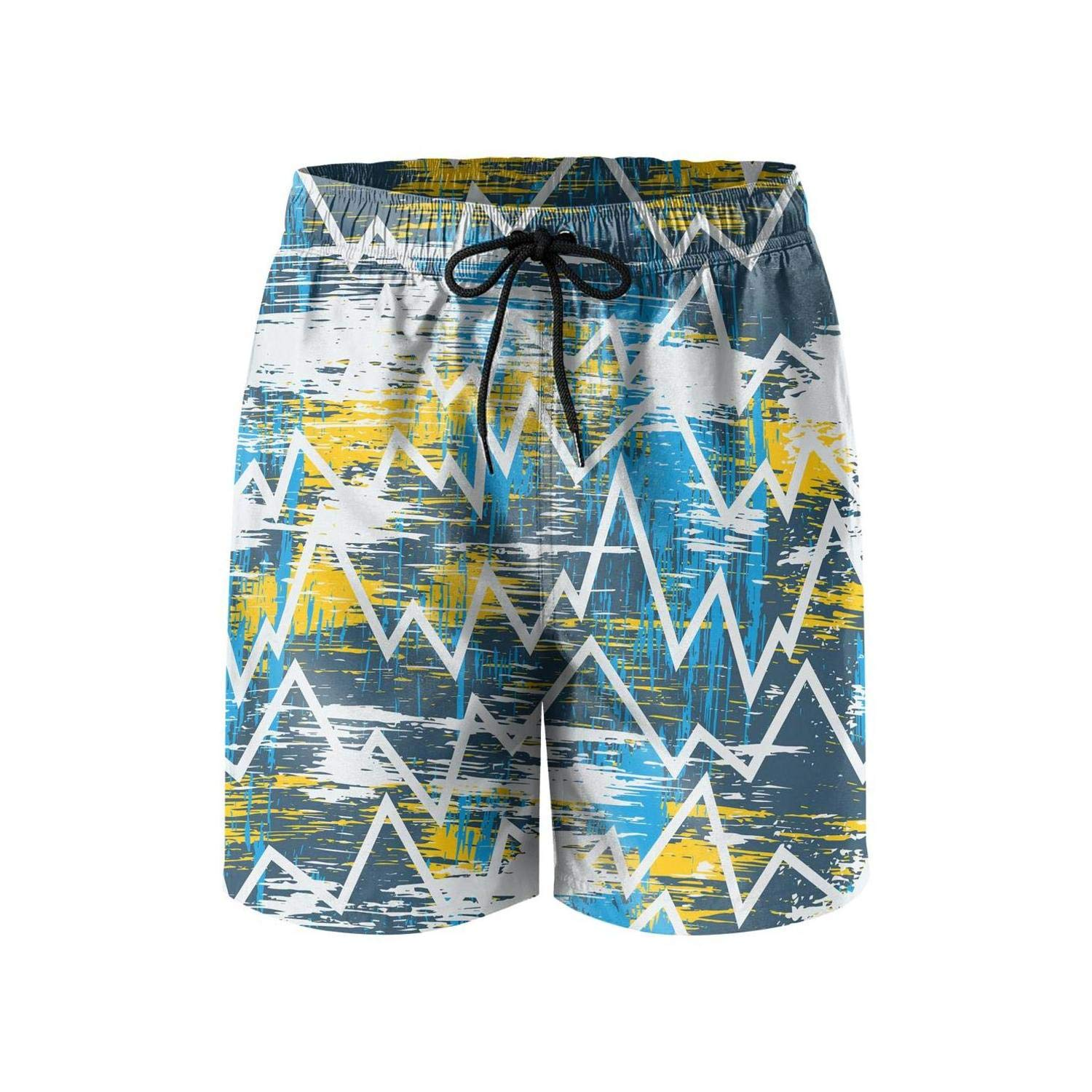 Floral Bohemian Boho Mens Shorts Classic Quick Dry Gym Swimming Trunks