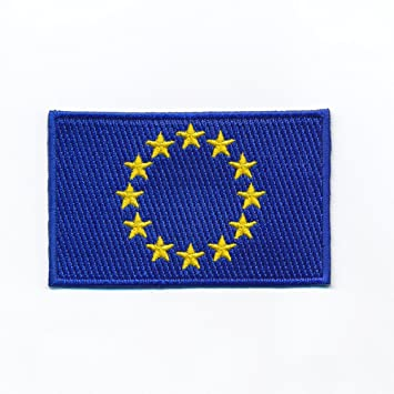 Flaggen Aufn/äher Patch Europa 12 Sterne Schrift NEU