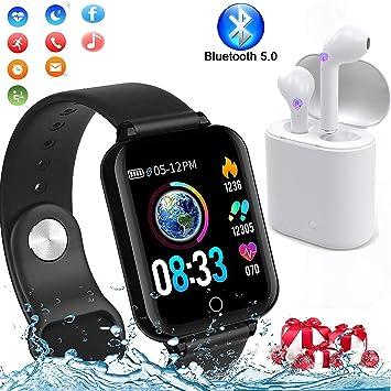 Smartwatch, Reloj Inteligente Pulsera de Actividad Inteligente ...