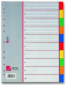 Rexel Separadores de polipropileno - Lengüeta de índice (22,6 cm, 87g, 90g) Multi: Amazon.es: Oficina y papelería