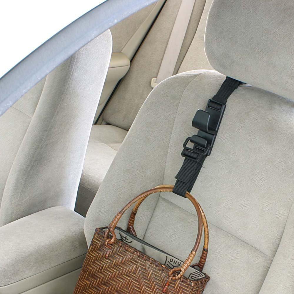 Coats Strong Durable Backseat Headrest Hanger Storage For Handbags Universal Vehicle Car Seat Back Headrest Bottle Holder and Grocery Bags Purses 4 Pack Car Seat Headrest Hooks by Villexun