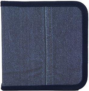 24 Capacity Premium CD/DVD case Wallet, Storage,Holder,Booklet Disc Storage Binder Bag for Car, Home, Office (Navy)