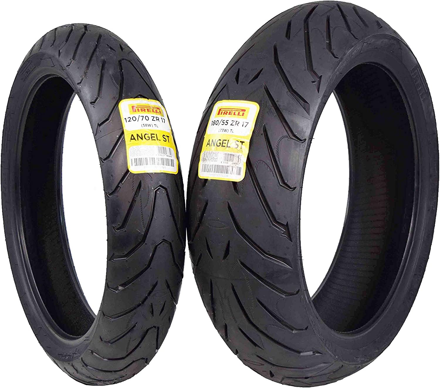 75W Pirelli Angel GT 120//70 ZR17 58W Motorcycle // Bike Tyres /& 190//55 ZR17