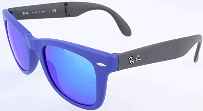 ba57993224324 Ray-Ban RB4105 Wayfarer Folding Non-Polarized Sunglasses 50mm  Ray Ban   Amazon.co.uk  Clothing