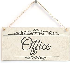 """Meijiafei Office - Shabby Chic Style Room Door Sign Great for Your Office Door 10"""" X 5"""""""