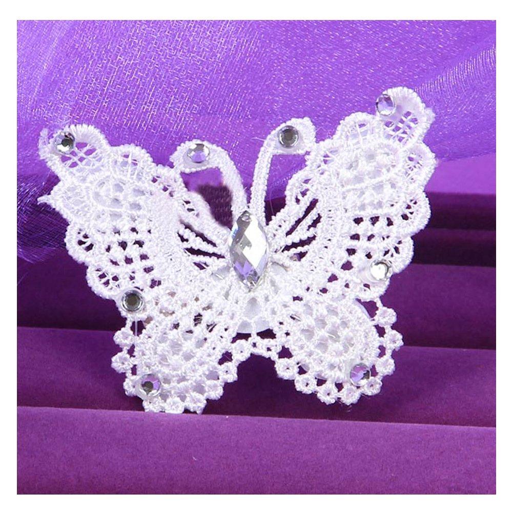 XY Fancy Wedding Handmade Bride Rhinestone Butterfly Hair Clip White Hair Accessory XY FANCY-CA-2486