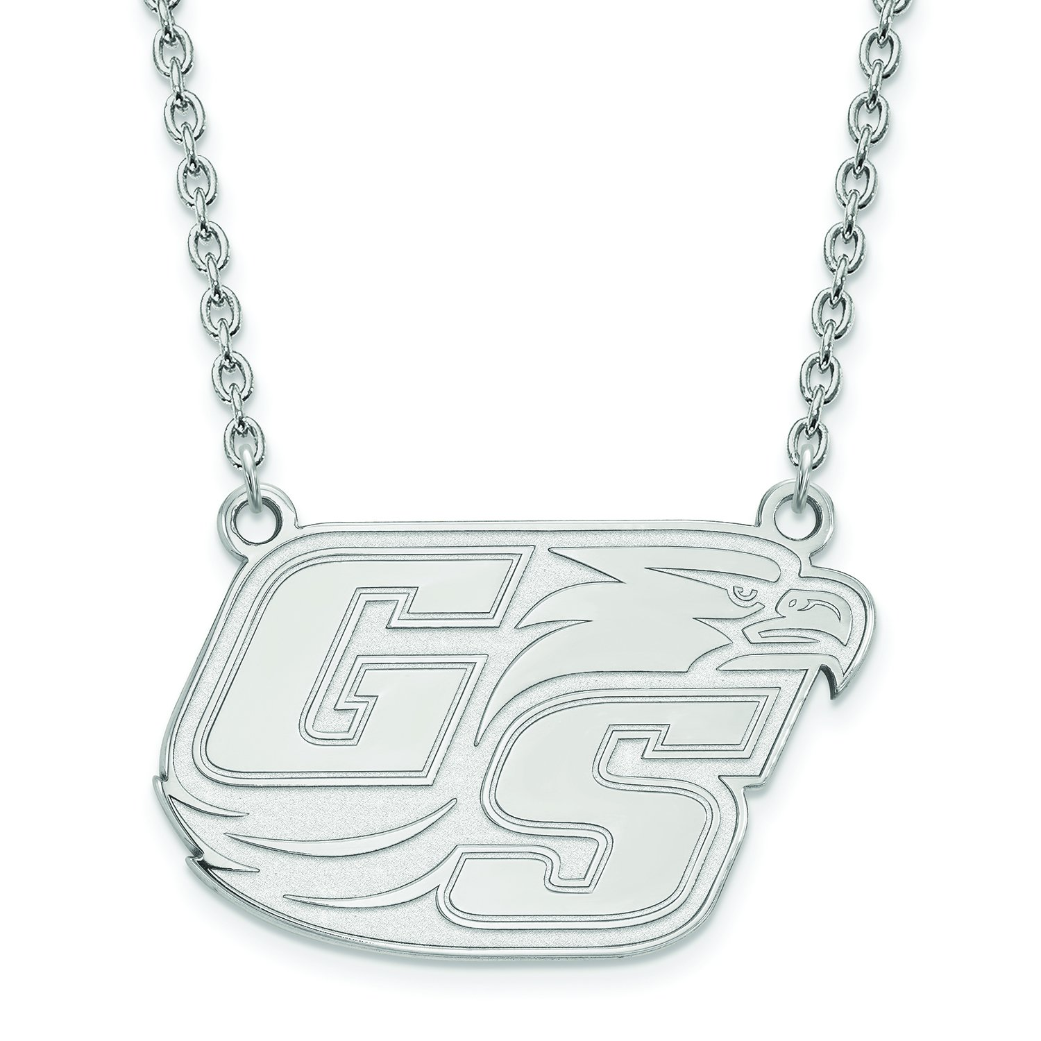 Georgia Southern Large ( 3 / 4インチ)ペンダントW /ネックレス( Sterling Sliver )   B01JAPBSH4