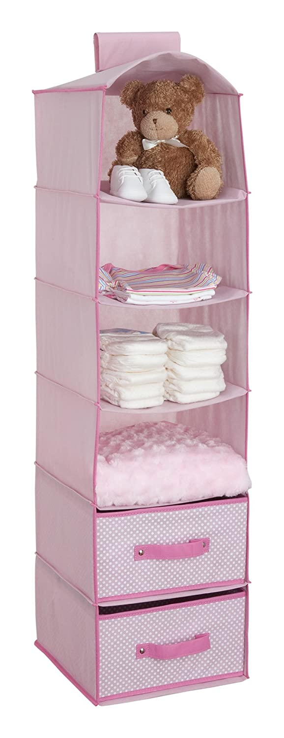 Amazon.com: Delta Children 6 Shelf Storage with 2 Drawers, Hot Pink: Baby