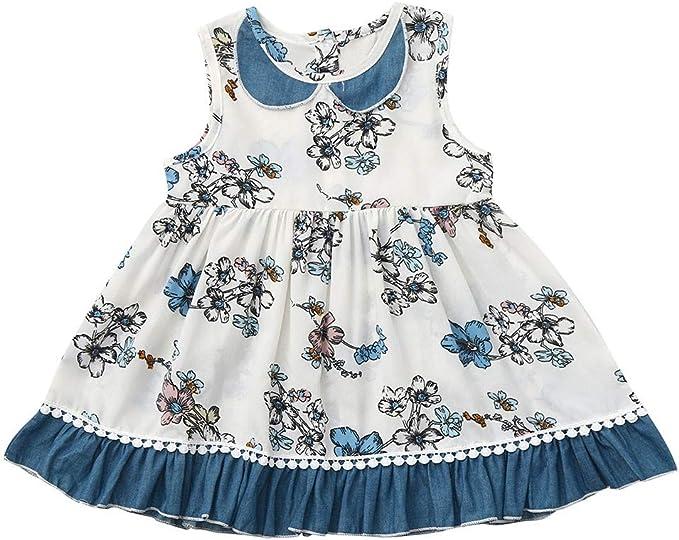 Vestiti Eleganti Bimba 4 Anni.Mbby Abito Bambina A Fiori 0 4 Anni Vestito Bambini Floreale In