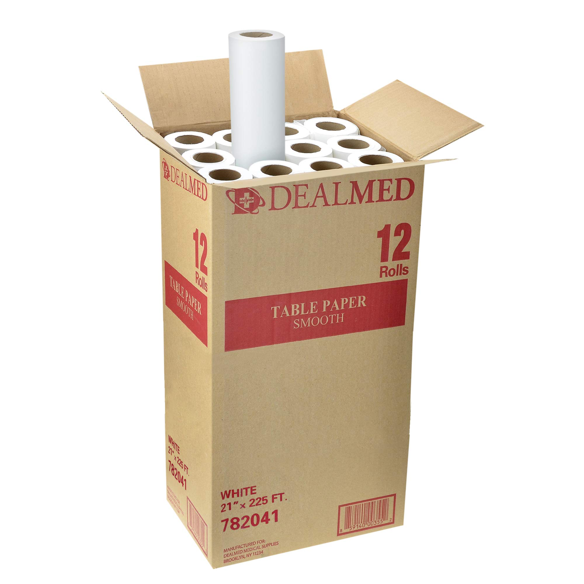 Dealmed Smooth Table Paper for Pattern-Making, Drafting, and Tracing, 21'' x 225 ft, White, 12 Rolls by Dealmed
