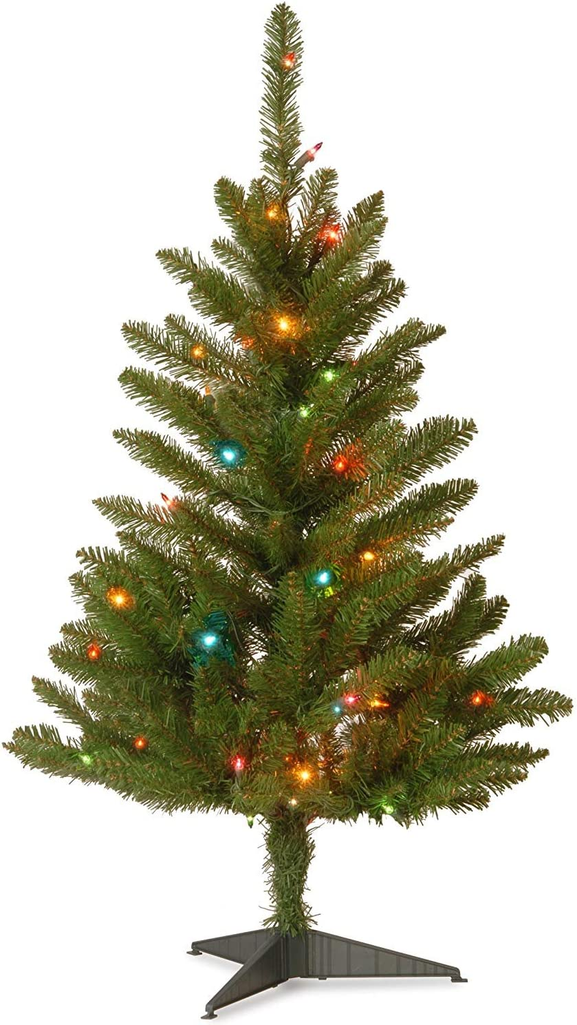 Amazon.com: 3\' Pre-lit Kingswood Fir Slim Artificial ...