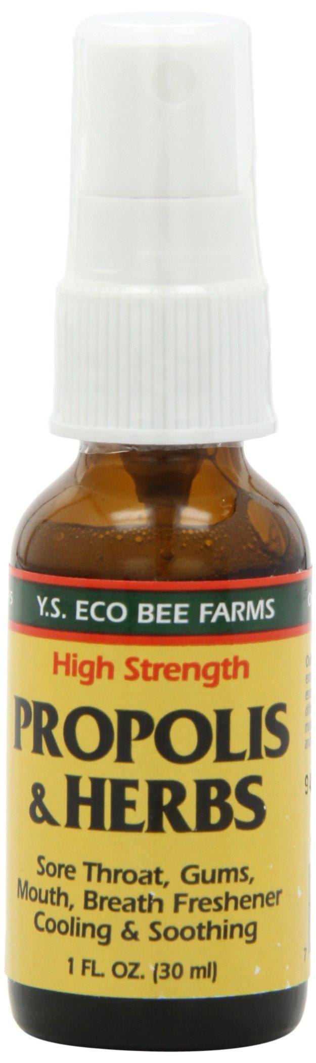 Propolis & Herbs Throat Spray YS Eco Bee Farms 1 oz Spray