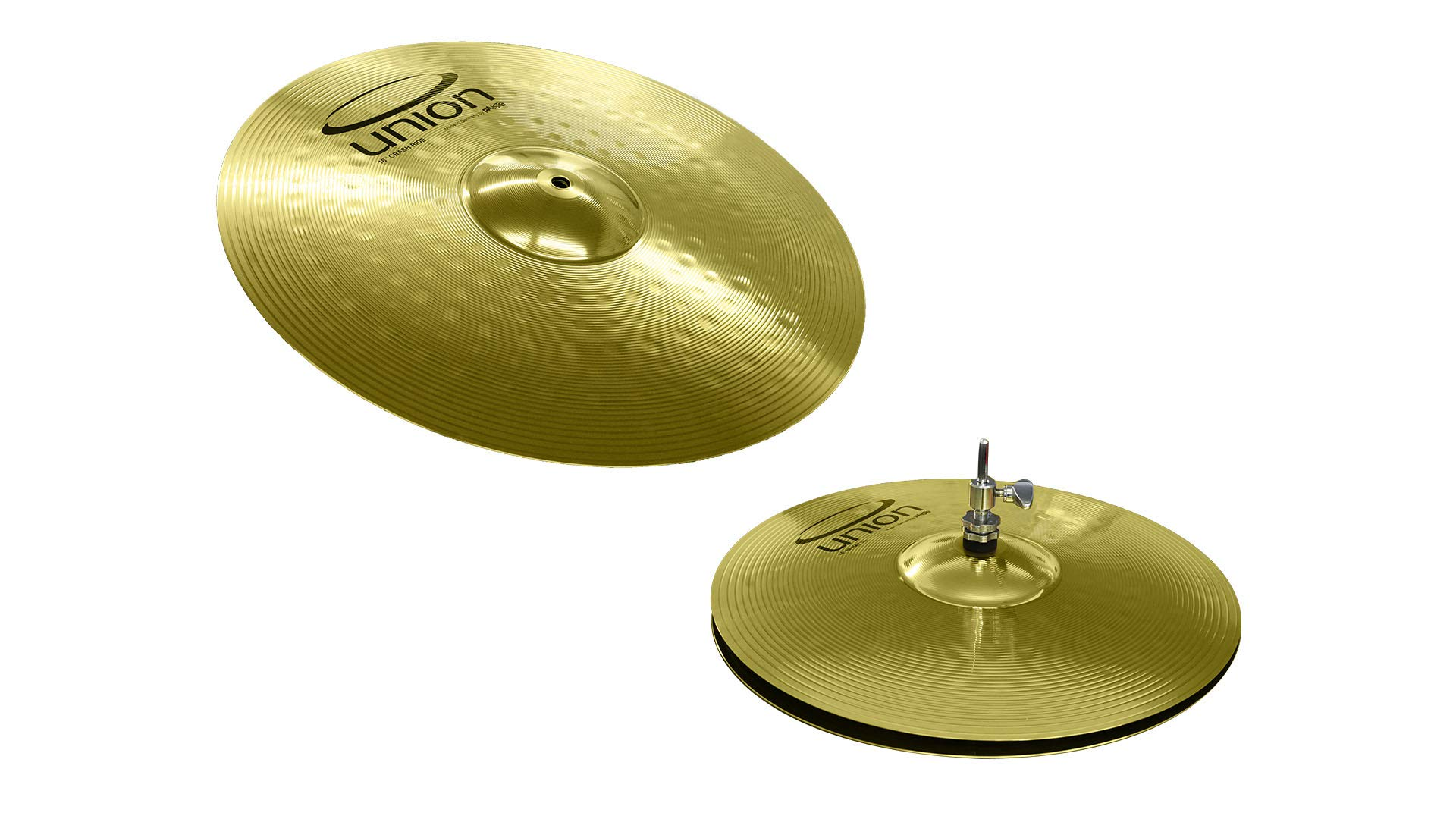 Union by Paiste 3-Piece Brass Cymbal Set - 14 inch Hi-Hats/18 inch Crash-Ride (OEMBM2KP) by Union