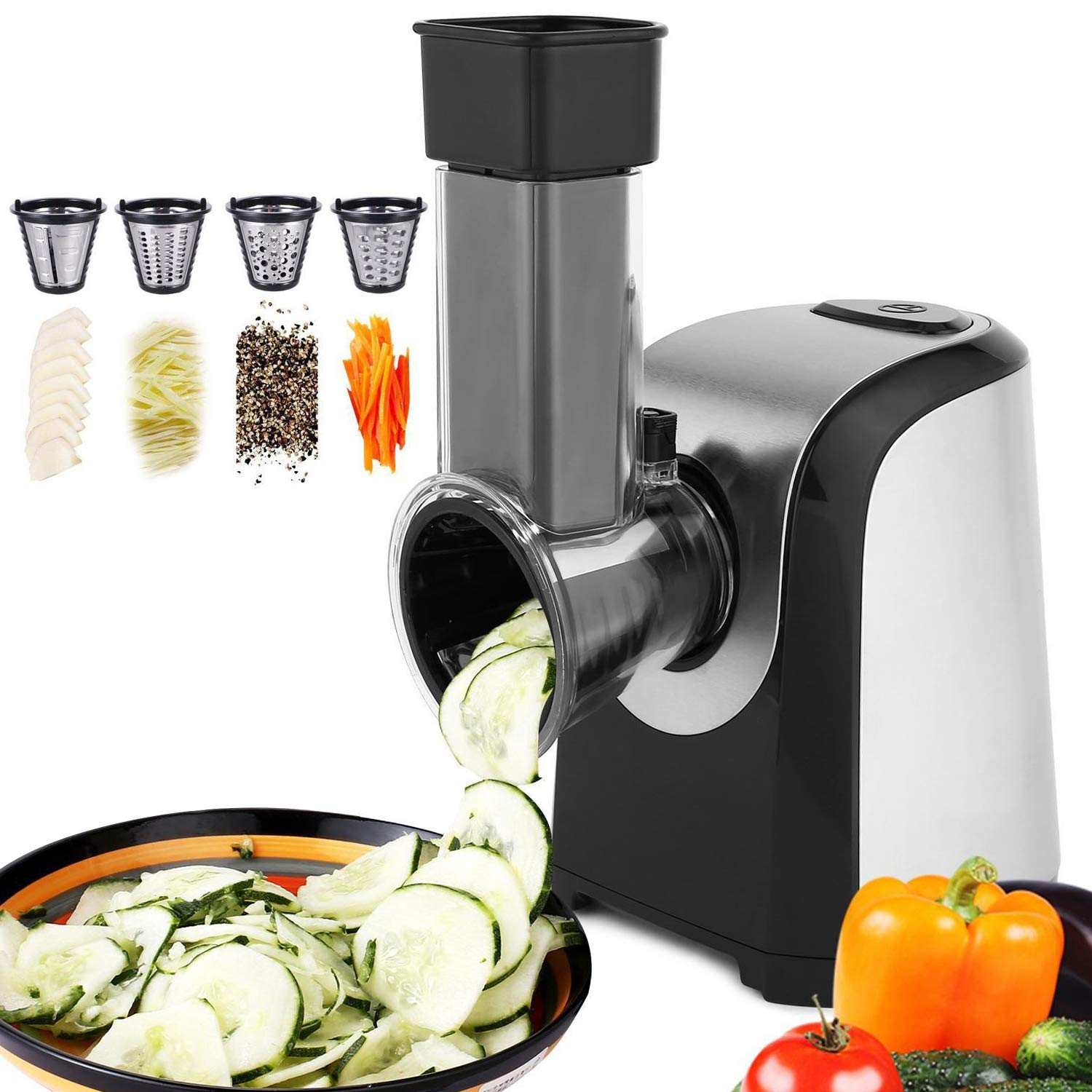 Hauture Professional Salad Maker, Electric Slicer Shredder,Chopper