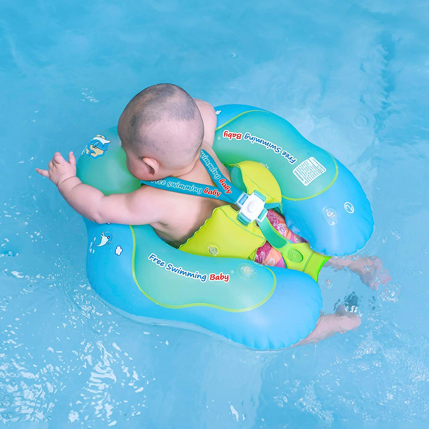 Free Swimming Baby Inflatable Baby Swim Float Children Waist Ring Inflatable Pool Floats Toys Swimming Pool Accessories For The Age Of 3 72 Months Blue S Toys Games