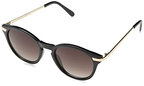 New Look Pops Preppy, Gafas de Sol para Mujer, Negro (Black), 52