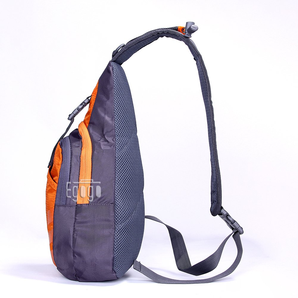 EGOGO Multi-Functional 3 Layers Hiking Cycling Bag Sling Pack with  Adjustable Shoulder Strap Cross 0a2d2e29c0ded