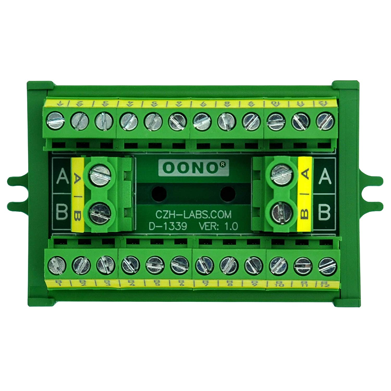OONO Screw Mount 30A/300V 2x12 Position Terminal Block Distribution Module.
