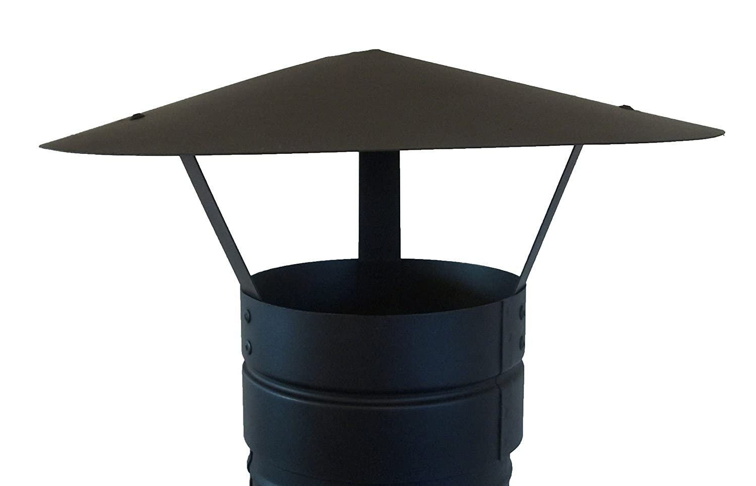 FOXY METAL FABRICATION CHIMNEY CAP,RAIN CAP,CHIMNEY COWL TO FIT 3''/75MM FLUE PIPE/STOVE PIPE