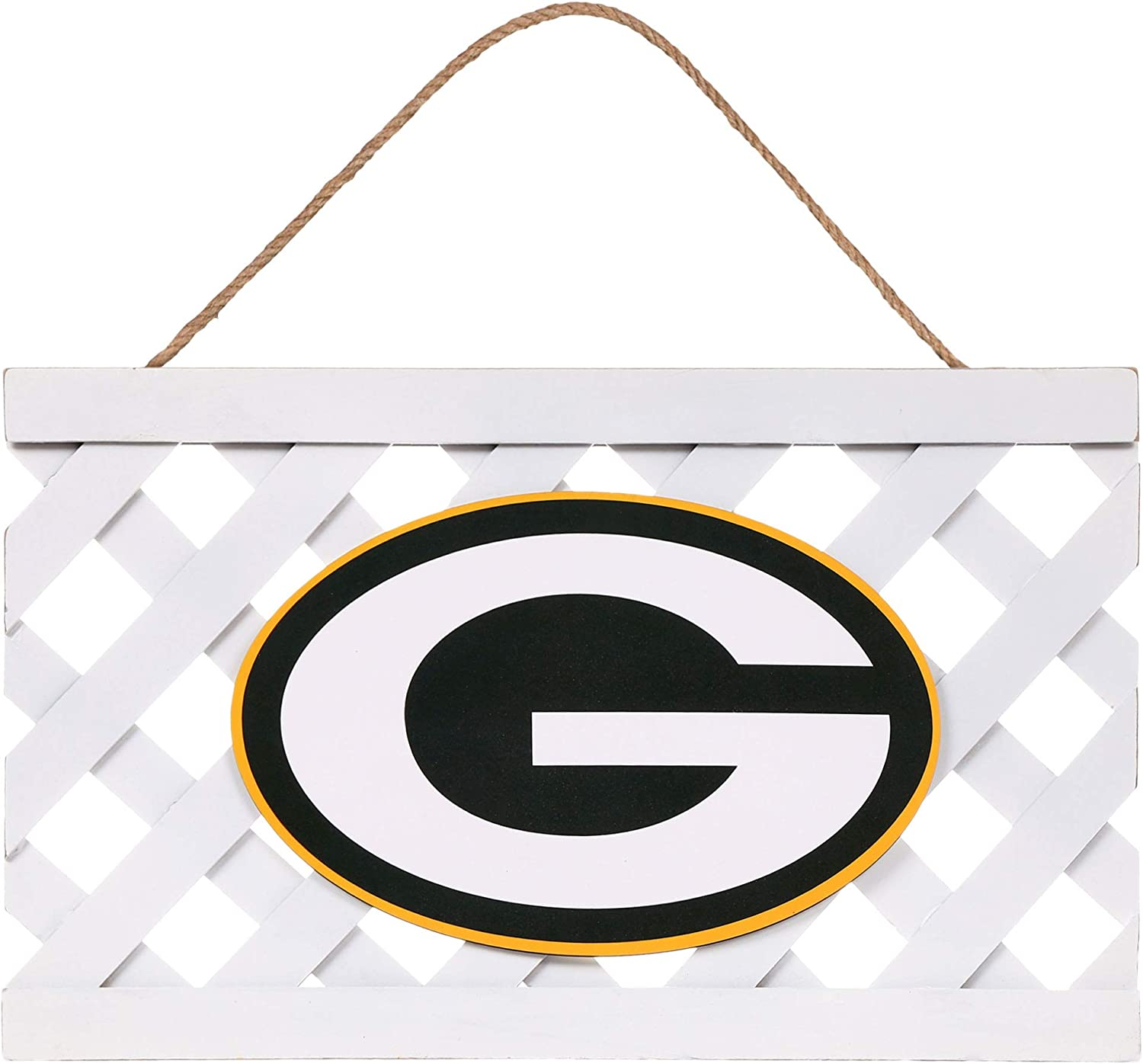 FOCO Green Bay Packers NFL Lattice Garden Sign