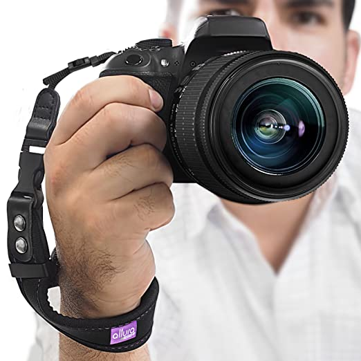 Camera Hand Strap - Rapid Fire&Acirc;&reg; Heavy Duty Safety Wrist Strap by Altura Photo w/ 2 Alternate Connections for Use w/ Large DSLR or Point &amp; Shoot Cameras (2016 Update) <span at amazon