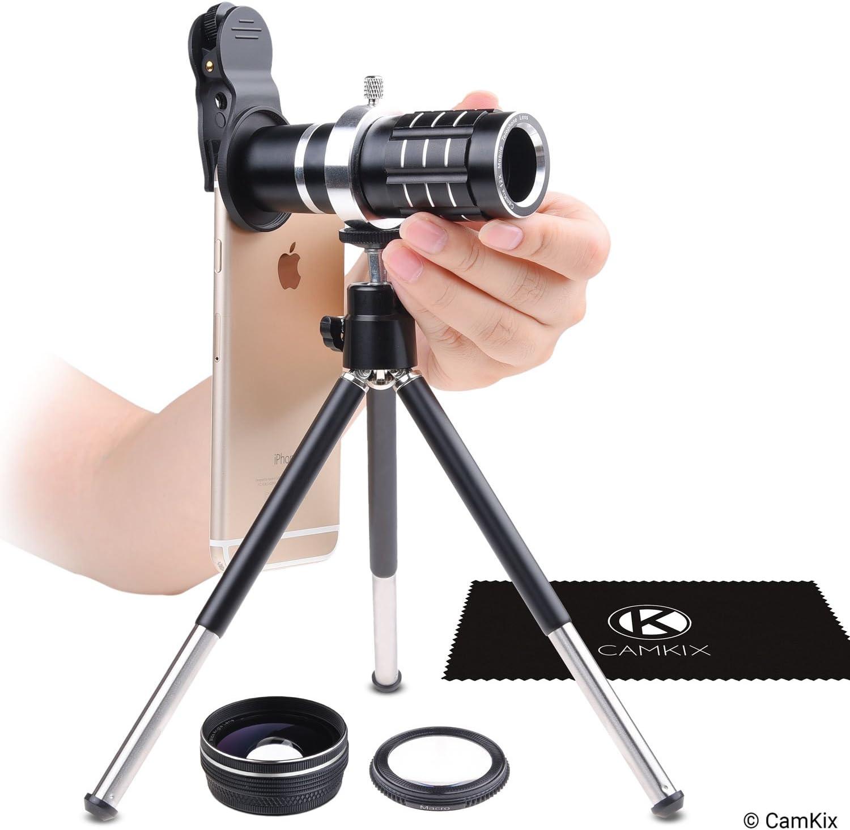 - Verschlie/ßende Objektivklemme Makro Universal 3in1 Objektiv-Kit mit 18fachen Tele Samsung Galaxy Verstellbares Stativ etc Weitwinkelobjektiven Fantastische Handyfotografie f/ür Apple iPhone