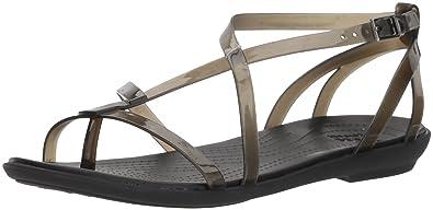 291ca7bee6af Crocs Women s Isabella Gladiator Sandal W Flat Black