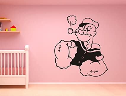 Buy Popeye The Sailor Man Black Wall Sticker And Wallpaper Size59