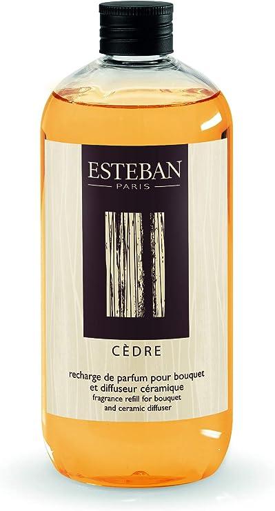 ESTEBAN PARIS Ricarica di profumo 500ml CEDRO per bouquet e diffusore in ceramica CED 136