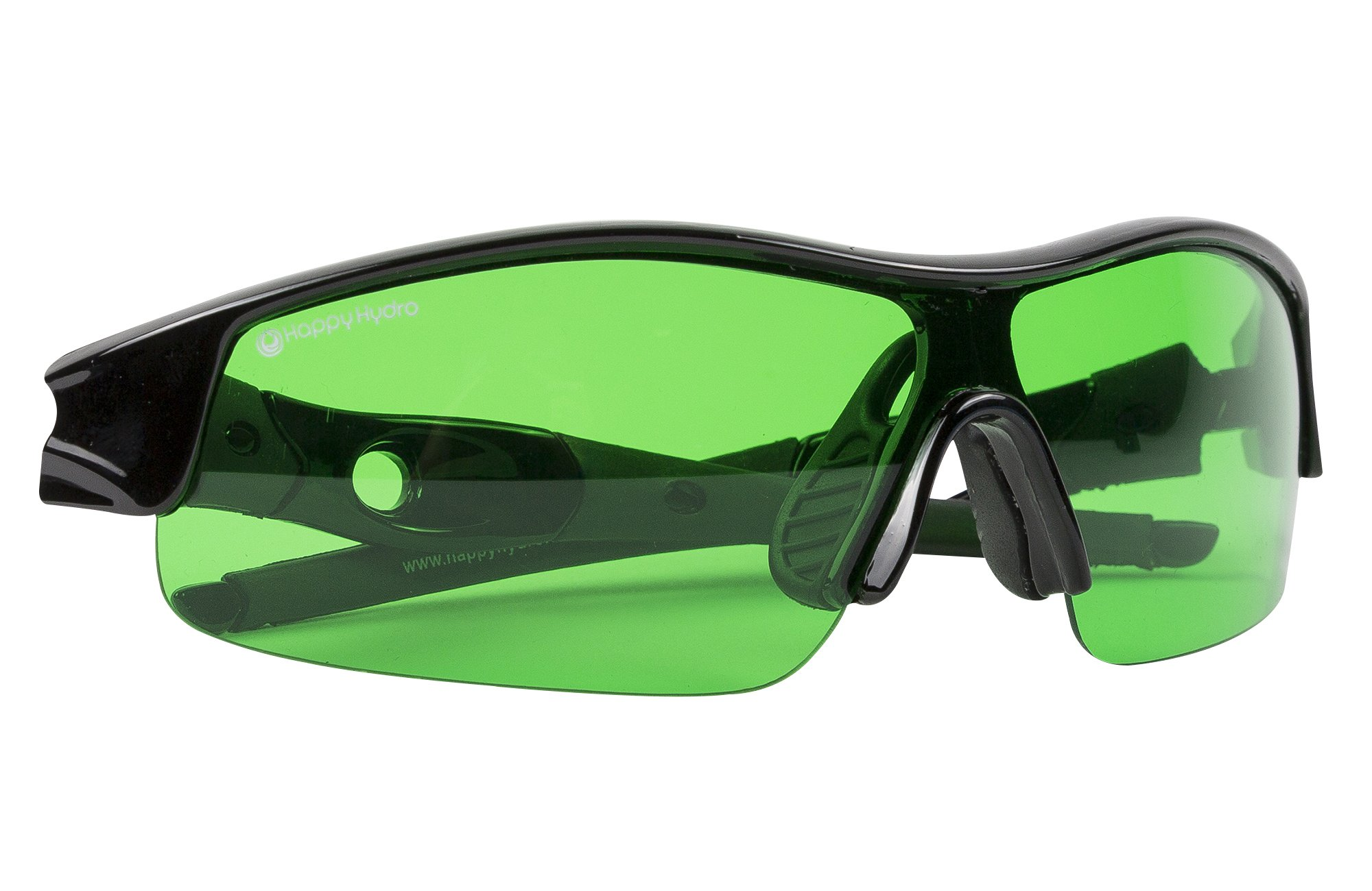 Happy Hydro LED UV Protective Glasses with Green Lenses for Grow Room Hydroponics