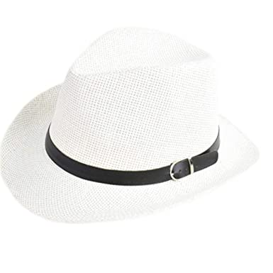 Puissant Sun-hats Popular Men Women Straw Hat Cap Summer Beach Travel  Sunhat with Black 9b887c9a9b9