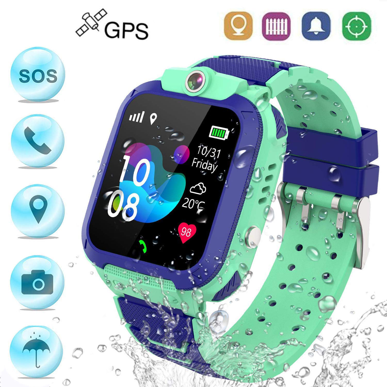 Winnes Reloj Inteligente Niño, Reloj Smartwatch Niños Niña GPS Soporte GPS + LBS de Doble Posicionamiento Geo-Cerca/intercomunicador de Voz Reloj ...