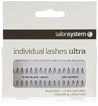 a3b69f8d423 Salon System Individual Bulb Free Ultra Black Short Flare Lashes ...