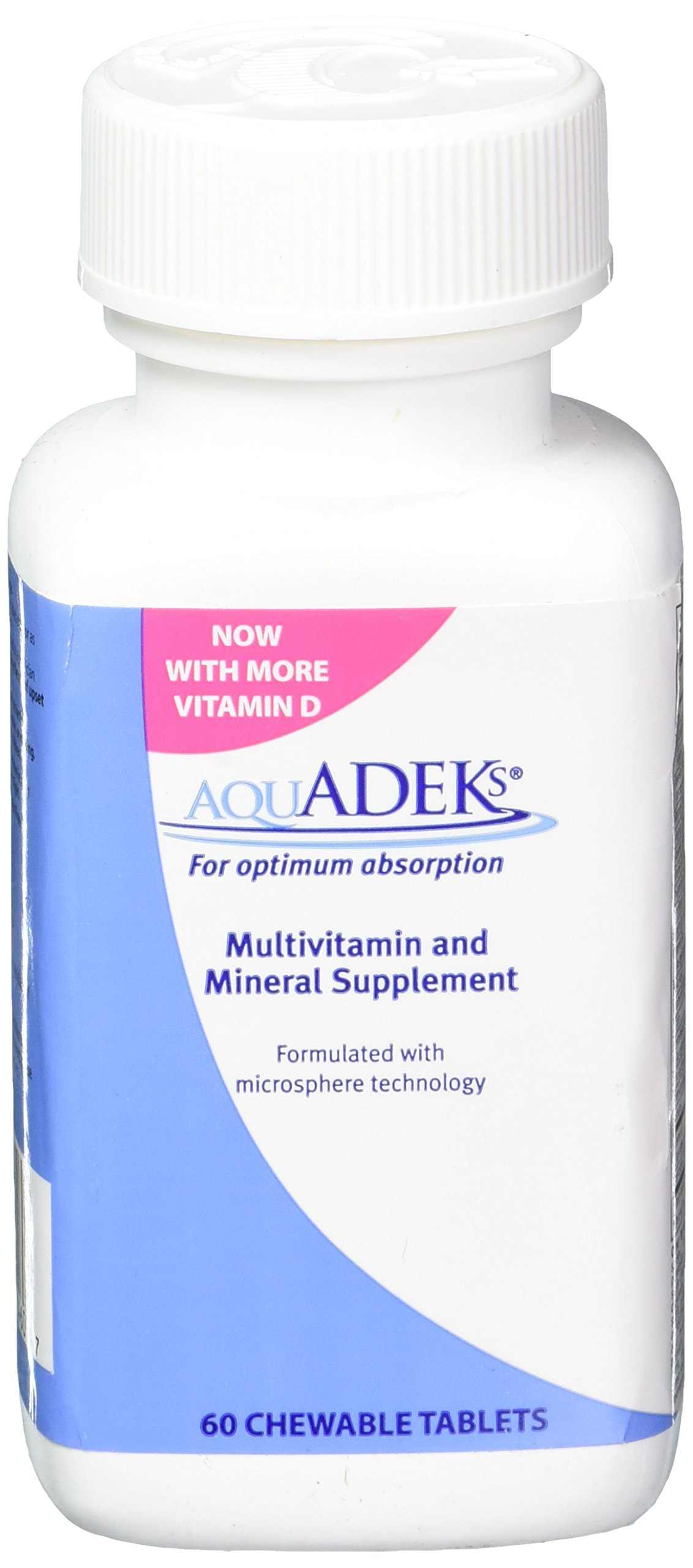 AQUADEKS Chewable Tablets Multi-Vitamins & Mineral Supplement, 60 Count