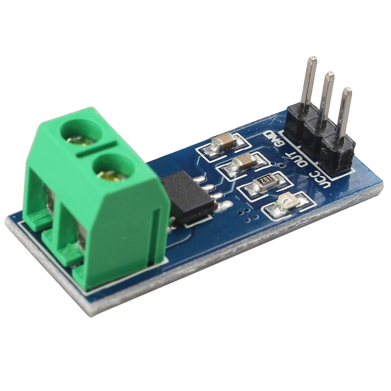 HALJIA ACS712 30A Range Analogue Current Sensor Module ACS712ELCTR-30A for Arduino