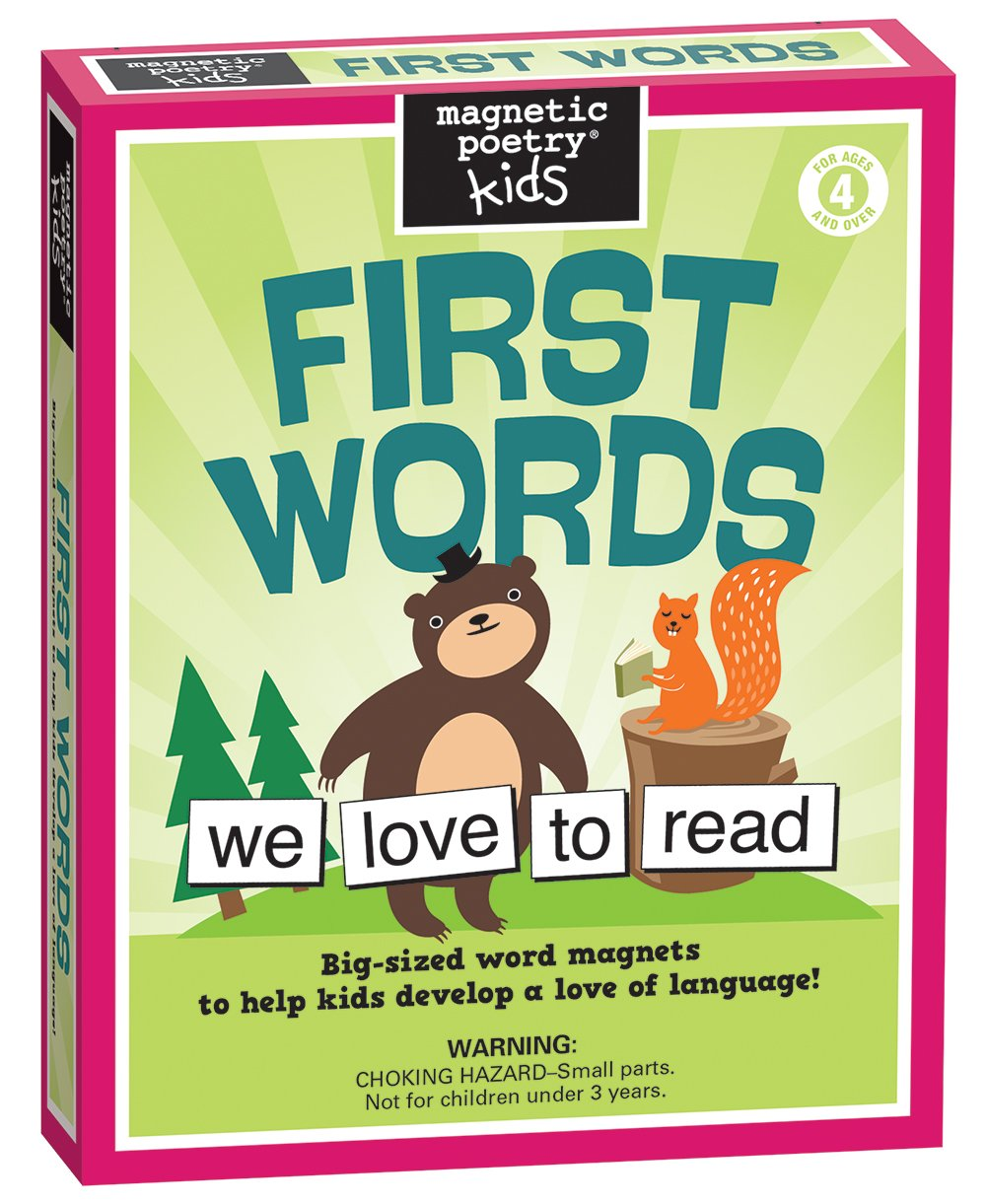 Magnetic Poetry - Kids First Words Kit - Ages 4 and Up - Words for Refrigerator - Write Poems and Letters on the Fridge - Made in the USA