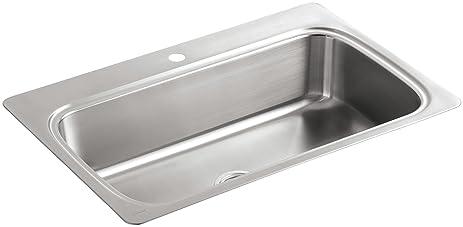 KOHLER K-3373-1-NA Verse Single-Basin Self-Rimming Kitchen Sink ...