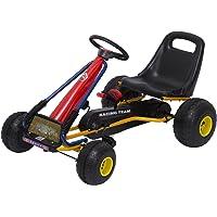 HOMCOM Go Kart Coche de Pedales Racing Deportivo
