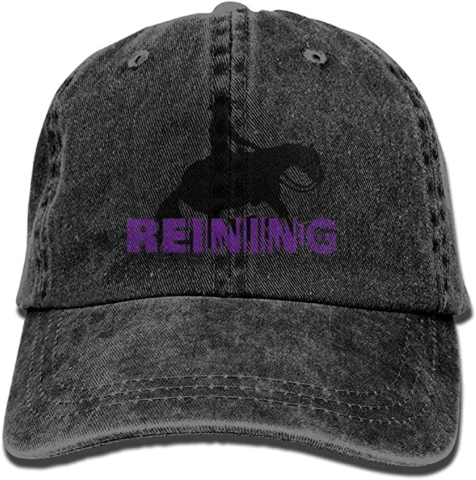 Presock Gorras De Béisbol Reining 3D Cowboy Hat Rear Cap ...