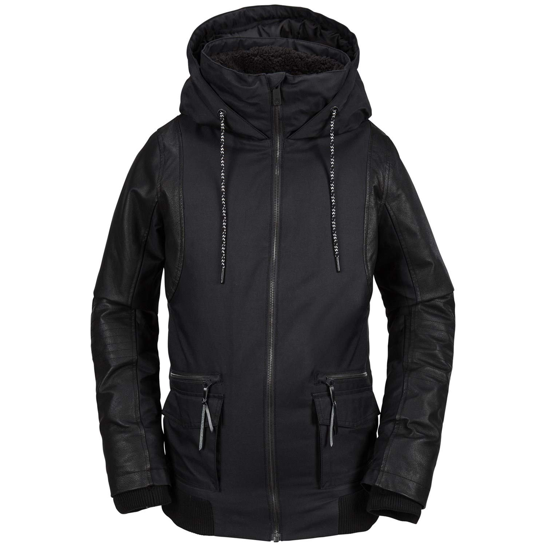 Volcom Junior's Baza Insulated 2 Layer Shell Snow Jacket, Black, Small