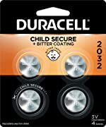Duracell - 2032 3V Lithium Coin Battery - with Bitter Coating