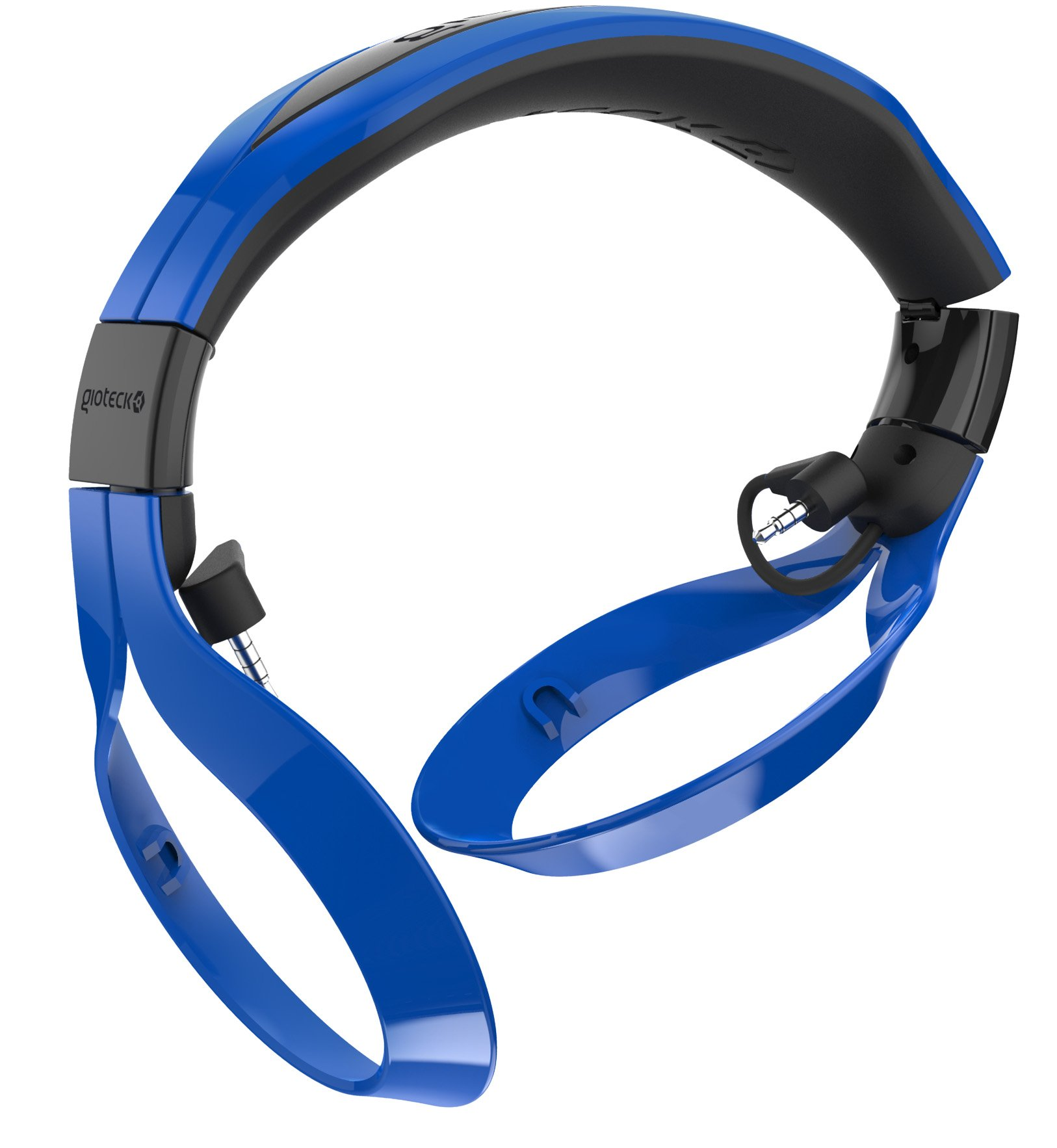 Gioteck FL-300 Wired Stereo Headset with Removable Bluetooth Speakers - Blue by Gioteck (Image #3)