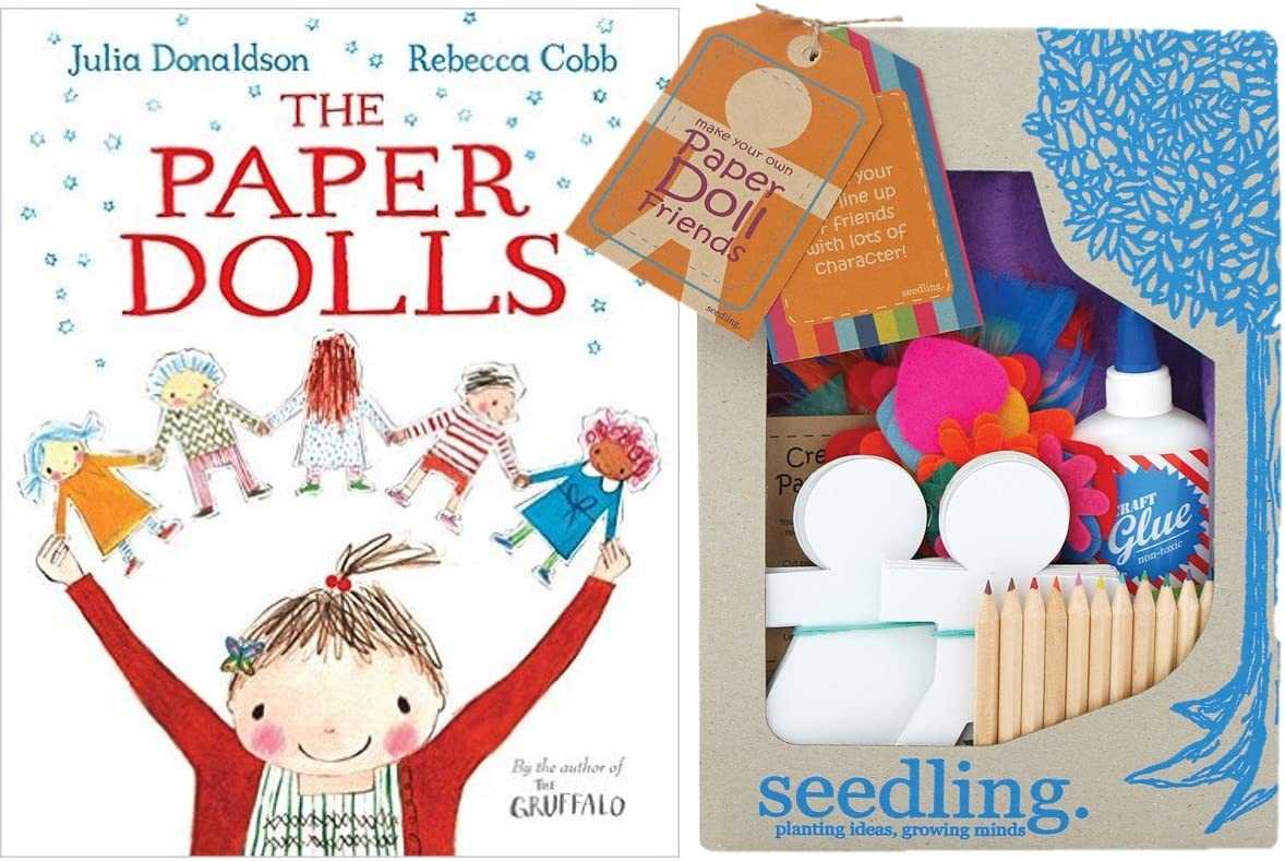 The Paper Dolls Bundle Julia Donaldson Book And Make Your Own Paper Dolls Kit Amazon Co Uk Toys Games