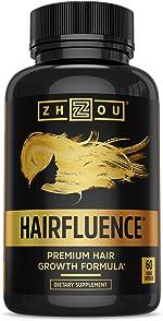 Zhou Hairfluence | Premium Hair Growth Formula for Longer, Stronger, Healthier