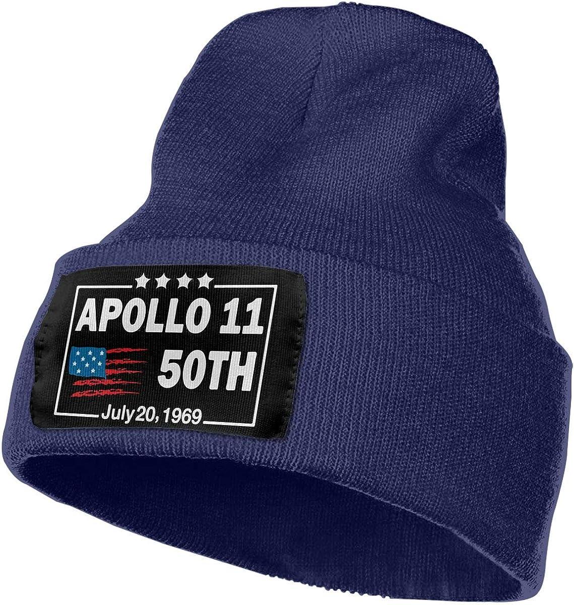 Apollo 11 50th Anniversary Beanie Cap Skull Cap Men Women Winter Warm Knitting Hats