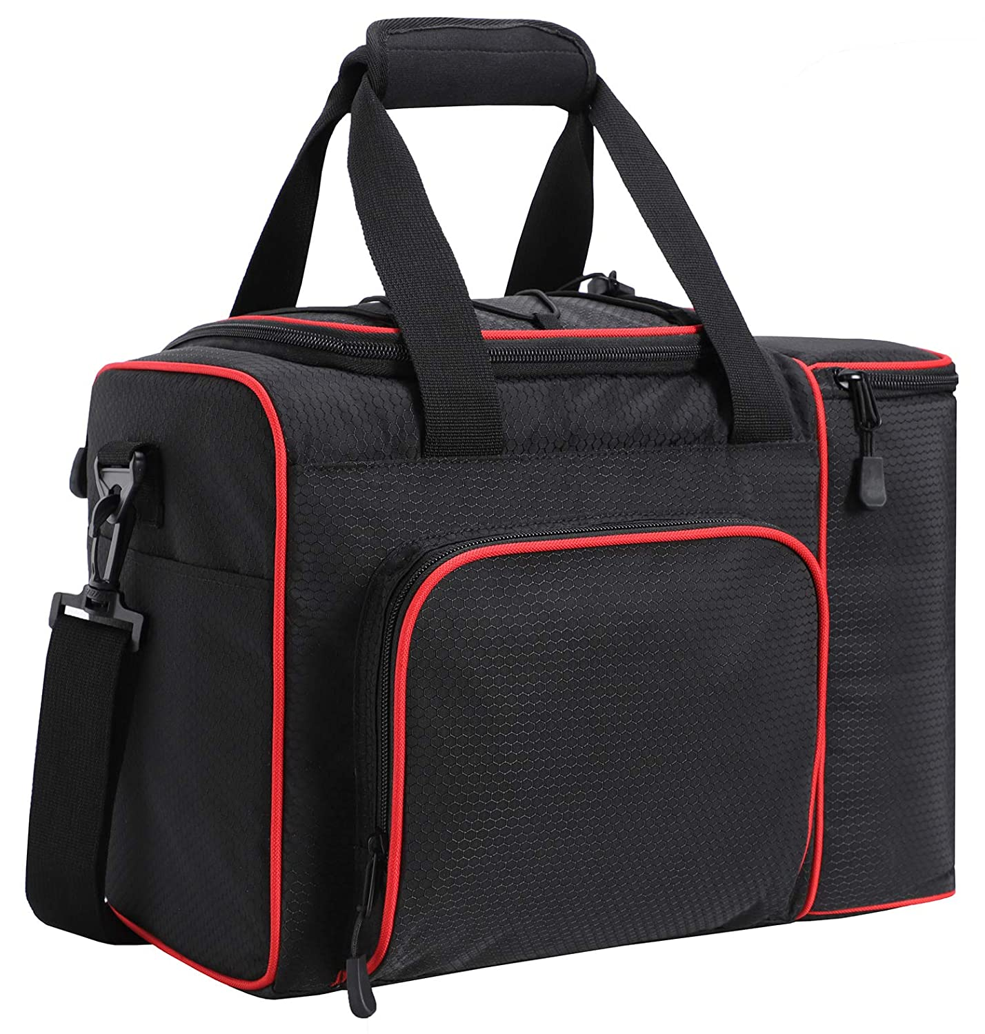 Travel 2 Decks Cooler Beach Grocery Black//Red Kayak MIER Large Adult Lunch Bag for Men Women Insulated Soft Cooler for Picnic Work