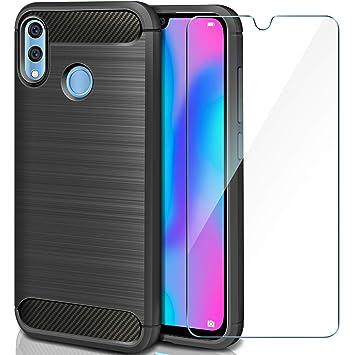 AROYI Funda Huawei P Smart 2019/Honor 10 Lite Silicona + vetro temperato, Carcasa Case Ligera Suave TPU Gel Bumper Anti-Golpes Anti-Rasguño Funda ...