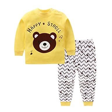 3895563d8f427 Amazon.com: Cotton Baby Boys Clothes Winter Newborn Cute Cartoon Bear Baby  Clothes Set 2PCS Unisex Kids Clothing Sets Bebes: Clothing