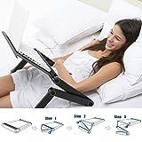 Meharbour Foldable Laptop Stand Desk, 360 Degree